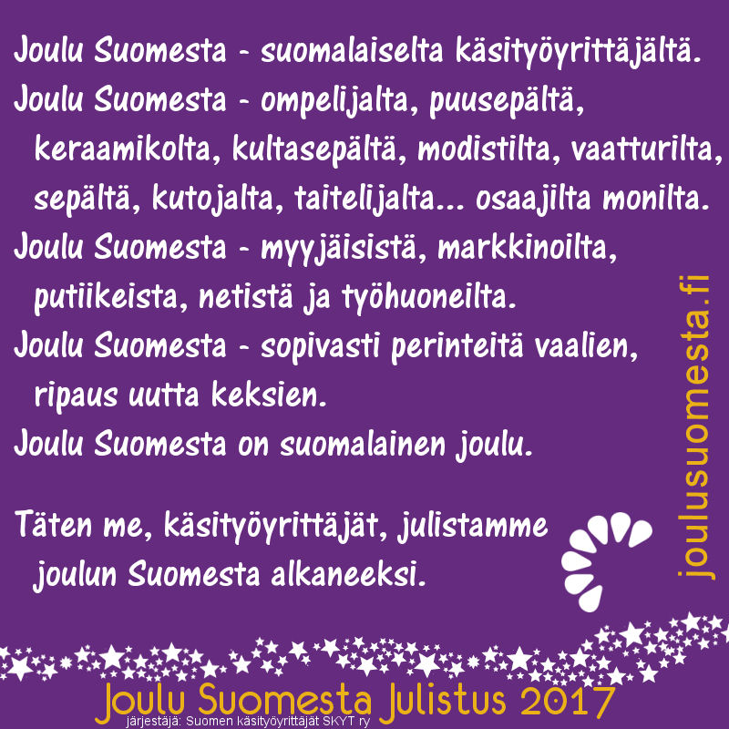 Joulu Suomesta Julistus 2017